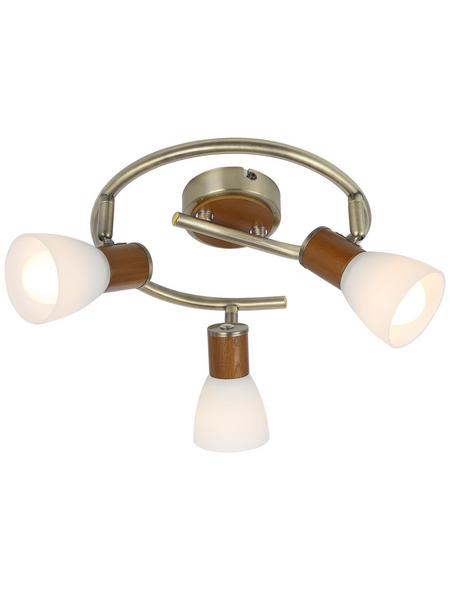 GLOBO LIGHTING Deckenleuchte »ITASY« silberfarben/dunkelbraun/alabasterfarben 40 W, 3-flammig, E14, inkl. Leuchtmittel