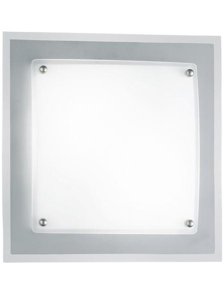 Deckenleuchte nickelfarben 40 W, 2-flammig, E14, ohne Leuchtmittel