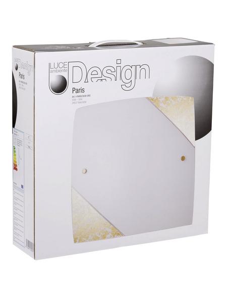 LUCE DESIGN Deckenleuchte »Paris«, dimmbar, Metall/Glas