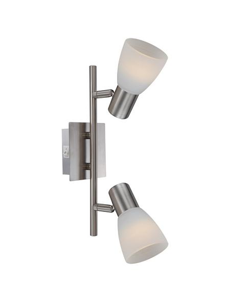 GLOBO LIGHTING Deckenleuchte »PARRY I« nickelfarben 4 W, 2-flammig, E14, inkl. Leuchtmittel in warmweiß