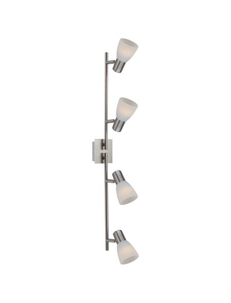 GLOBO LIGHTING Deckenleuchte »PARRY I« nickelfarben 4 W, 4-flammig, E14, inkl. Leuchtmittel in warmweiß