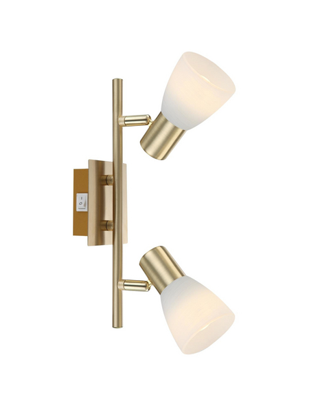 GLOBO LIGHTING Deckenleuchte »RAIDER I« messingfarben 4 W, 2-flammig, E14, inkl. Leuchtmittel in warmweiß