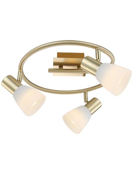 GLOBO LIGHTING Deckenleuchte »RAIDER I« messingfarben 4 W, 3-flammig, E14, inkl. Leuchtmittel in warmweiß