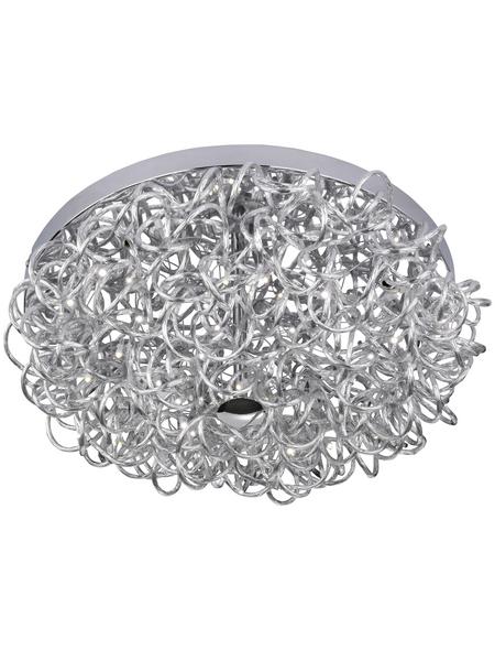 wofi® Deckenleuchte silberfarben 11 W, 1-flammig, inkl. Leuchtmittel in warmweiß