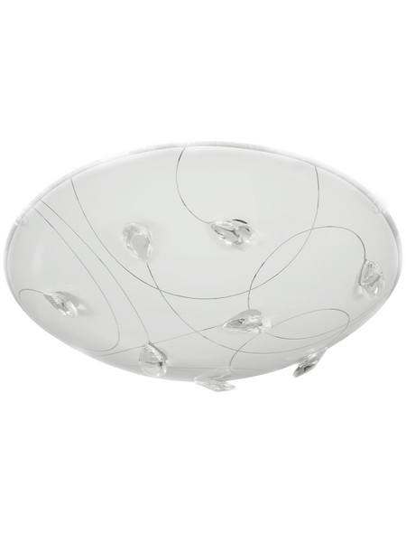 wofi® Deckenleuchte weiß 12 W, 1-flammig, inkl. Leuchtmittel in warmweiß