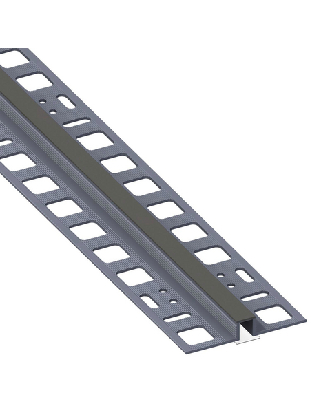 alfer® aluminium Dehnfugenprofil, BxHxL: 5 x 1 x 250cm, Polyvinylchlorid (PVC)