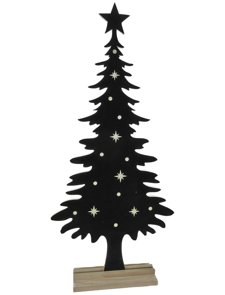 Goldbach Deko-Tannenbaum »Noble Christmas Time«, BxH: 12 x 104 cm, Holz, schwarz/goldfarben