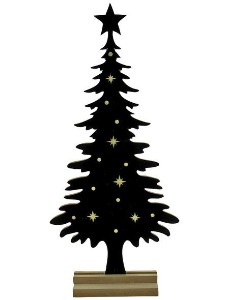 Goldbach Deko-Tannenbaum »Noble Christmas Time«, BxH: 8 x 65 cm, Holz, schwarz/goldfarben