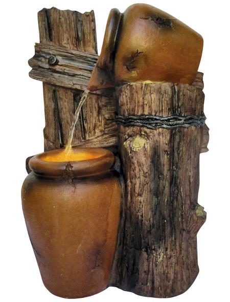 GRANIMEX Dekobrunnen »Jarro«, natur/braun, inkl. Pumpe