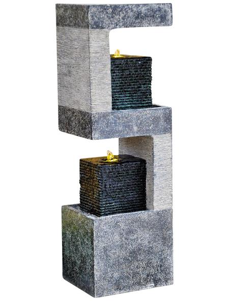 GRANIMEX Dekobrunnen »Kaito«, Höhe: 88 cm, granitfarben, inkl. Pumpe