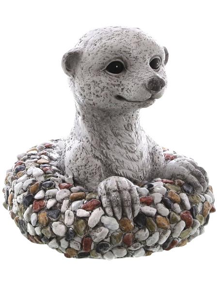 Dekofigur »Kiesel Figuren«, Erdmännchen, Keramik, grau