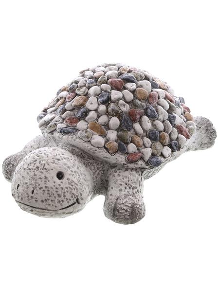 Dekofigur »Kiesel Figuren«, Schildkröte, Keramik, grau