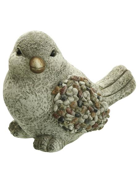 Dekofigur »Kiesel Figuren«, Vogel, Keramik, grau