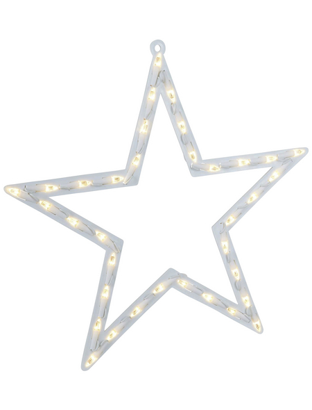 KONSTSMIDE Dekoleuchte, sternförmig, Höhe: 47 cm, netz, weiß