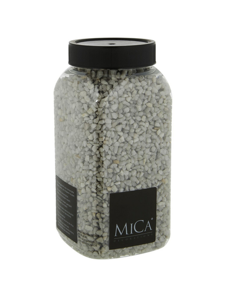 mica® decorations Dekomaterial Kiesel Stein hellgrau 1 kg