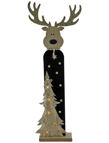 Goldbach Dekoration »Noble Christmas Time«, Rentier, Höhe: 79 cm