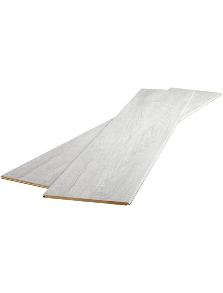 RENOVO Dekorpaneele »Monte Liska«, weiß, foliert, Holz, Stärke: 10 mm, mit Rundfuge