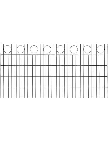 FLORAWORLD Dekorzaun-Matte, HxL: 100 x 200 cm, anthrazit