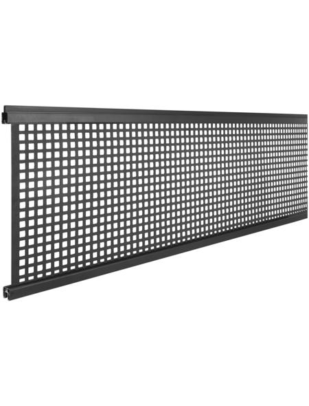 MR. GARDENER Design Inlay, BxHxT: 179 x 30,1 x 2 cm, anthrazit, für WPC-Steckzaunsystem Turino