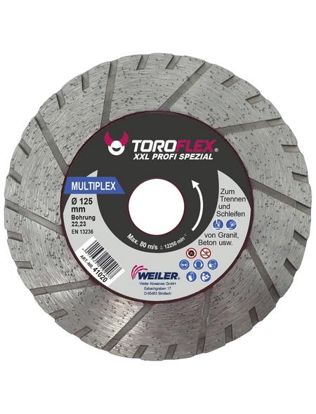 TOROFLEX Diamanttrennscheibe, Ø 105 mm, Zubehör für: Winkelschleifer