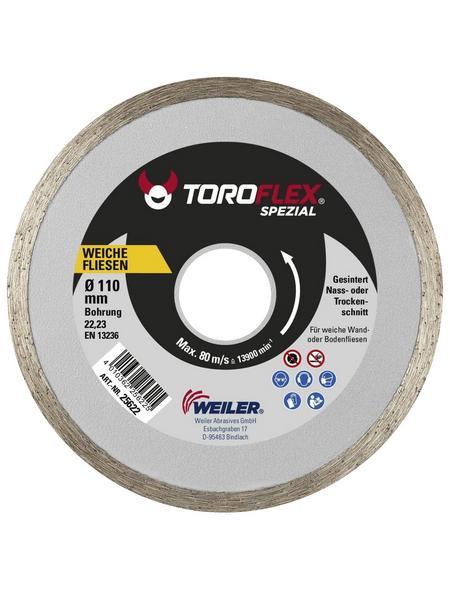 TOROFLEX Diamanttrennscheibe, Ø 110 mm, Zubehör für: Winkelschleifer