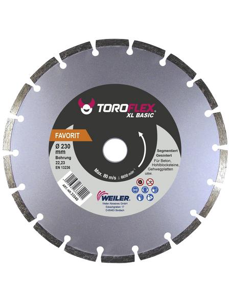 TOROFLEX Diamanttrennscheibe, Ø 125 mm, Zubehör für: Winkelschleifer