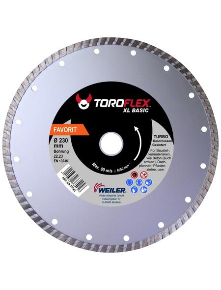 TOROFLEX Diamanttrennscheibe, Ø 180 mm, Zubehör für: Winkelschleifer