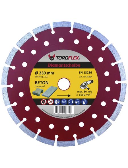 TOROFLEX Diamanttrennscheibe, Ø 230 mm, Zubehör für: Winkelschleifer