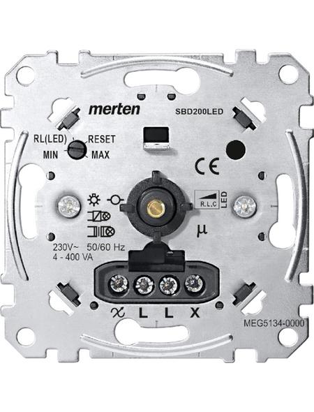 merten Dimmer, Metall, Silber, 200 W
