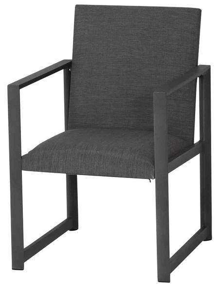 CASAYA Diningsessel »Reio«, BxTxH: 66  x 57,5  x 88  cm, Aluminium/ Textil