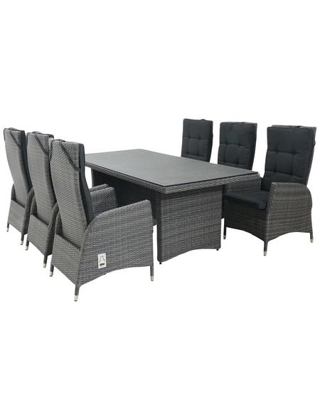 CASAYA Diningset »Jardel«, 6 Sitzplätze, inkl. Auflagen