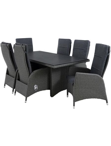 ploß® Diningset »Jardel Earth Grey«, 6 Sitzplätze, inkl. Auflagen