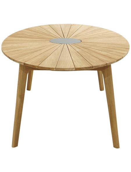 ploß® Diningtisch »Chester«, mit Teakholz/Granit-Tischplatte, BxTxH: 120x220x75 cm