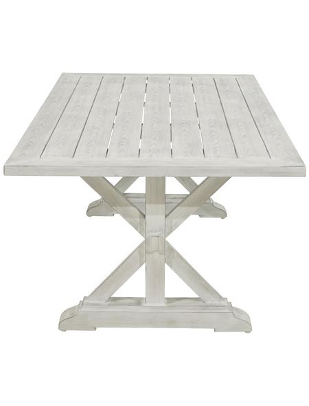 ploß® Diningtisch »Denver«, mit Aluminium-Tischplatte, BxTxH: 200x105x74 cm