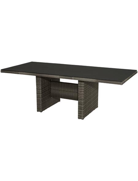 ploß® Diningtisch »Jardel«, mit Sicherheitsglas-Tischplatte, BxTxH: 220 x 100 x 75 cm