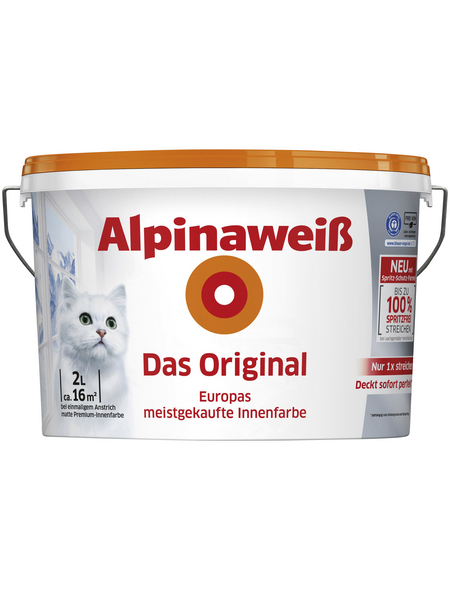 Dispersionsfarbe »Alpinaweiß«, matt