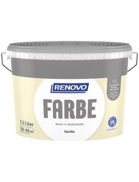 RENOVO Dispersionsfarbe »Farbe«, Vanille, matt