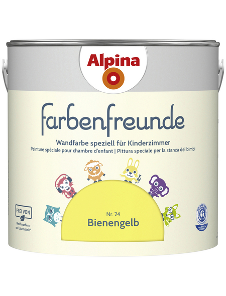 ALPINA Dispersionsfarbe »Farbenfreunde«, Bienengelb, matt