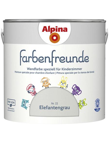 ALPINA Dispersionsfarbe »Farbenfreunde«, Elefantengrau, matt