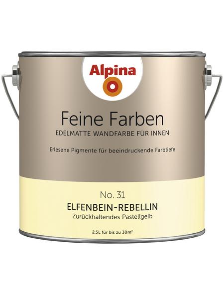 ALPINA Dispersionsfarbe »Feine Farben«, Elfenbein-Rebellin, matt