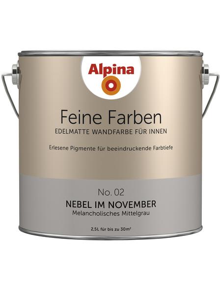 ALPINA Dispersionsfarbe »Feine Farben«, Nebel im November, seidenmatt