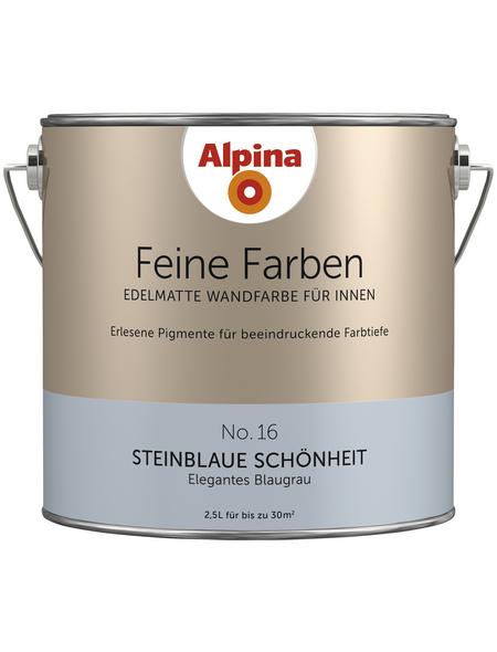 ALPINA Dispersionsfarbe »Feine Farben«, Steinblaue Schönheit, matt