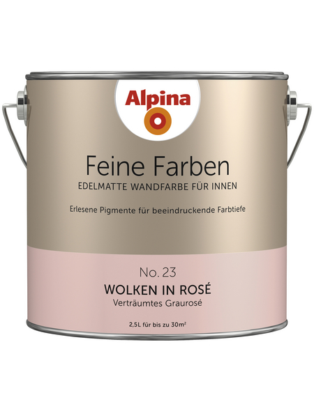 ALPINA Dispersionsfarbe »Feine Farben«, Wolken in Rosé, matt