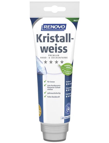 RENOVO Dispersionsfarbe »Kristallweiß«, Weiß, matt