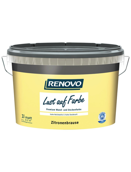 RENOVO Dispersionsfarbe »Lust auf Farbe«, Zitronenbrause, matt