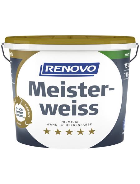 RENOVO Dispersionsfarbe »Meisterweiß«, matt