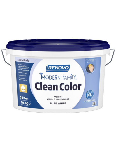 RENOVO Dispersionsfarbe »Modern Family.«, Pure White, matt