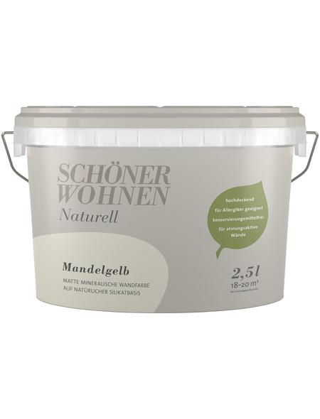 SCHÖNER WOHNEN Dispersionsfarbe »Naturell«, Mandelgelb, matt