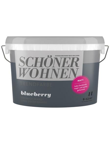 SCHÖNER WOHNEN Dispersionsfarbe »Trendfarbe«, Blueberry, matt