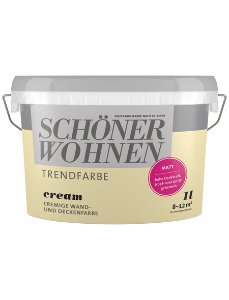 SCHÖNER WOHNEN Dispersionsfarbe »Trendfarbe«, Cream, matt